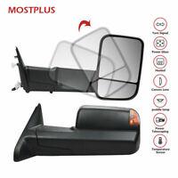 Power Fold+Heated Towing Mirrors LED Signal w/ Temp Sensor For 09-17 Dodge Ram