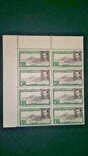 ASCENSION SG 39d 1949 MNH Block of 8 Showing 6 Varieties - Flaws Semi Scarce