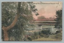 Holderness NH Plymouth Bridge—Hand-Colored Antique Photo—Fred Brown—Squam Lake