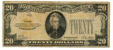 FR. 2402 $20 1928 Gold Certificate A-A Block