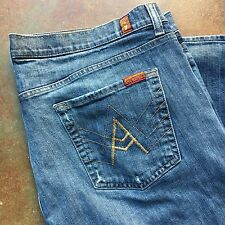 Men's SEVEN For All Mankind JEANS A PKT Pocket Relaxed STRAIGHT LEG Size 40