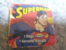"NEW/SEALED Superman Magic Towel 11.75"" x 11.75"", 100% Cotton"