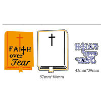 Faith Over Fear Metal Cutting Dies For DIY Scrapbooking Album Paper Cards BR