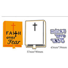 New listing 2X Faith Over Fear Metal Cutting Dies For Diy Scrapbooking Album Paper Card Ep