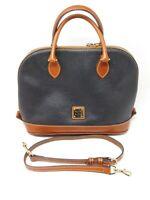 Dooney & Bourke Pebble Leather Zip Zip Satchel BLACK A252389
