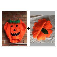 Kids Pumpkin Costume Halloween Unisex Fancy Dress up Party Orange Vegetable