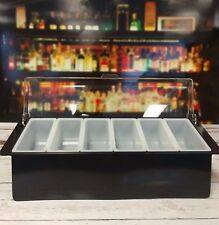 Deluxe Condiment Tray Dispenser 6 Pint Bar Caddy BLACK