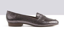 Ted & Muffy TOTTO Snakeskin Effect Pewter Loafers UK 7 EU 40 LG07 40