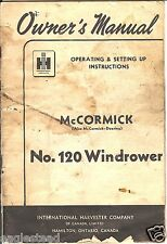 Farm Manual - IH - McCormick - 120 - Windrower - Owner's - c1952 (FM260)
