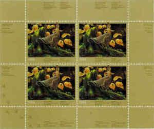 Quebec #1M 1988 Huppé Grouse Conservation Mini Feuille De 4