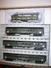 HO IHC Military US Army WWII Hospital Train Set F3-a LOCO W/3 Pass Cars #20087