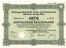 AG für Grob u. Feinkeramik  München  Sinzig Wien  1943   AGROB