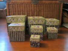 Bob's Boxes Set of 7 Nesting Boxes Grapes in Green