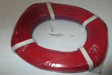 (0,279 €/ M) Twin Braid Wire 50m Red/Blue New