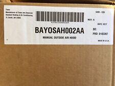 NEW Trane Manual Outside Air Hood BAYOSAH002AA