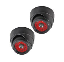 2 PACK Indoor Dummy Fake Black Dome Security Camera Cameras,30 Illuminating LEDs