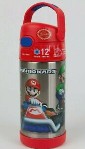 Thermos MARIOKART 12 oz Stainless Steel Water Bottle FUNtainer Cold Drink Sipper