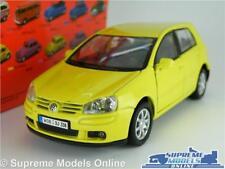 VOLKSWAGEN VW GOLF MK5 MODEL CAR 1:36-1:38 SCALE YELLOW MARK V WELLY NEX K8