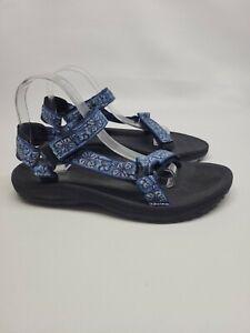 Teva Hurricane 6576 Womens Blue Hiking Water Sandals Shoes Size 10 Adjustable