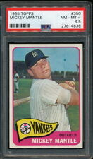 MICKEY MANTLE 1965 TOPPS YANKEES CARD #350 PSA 8.5 *SHARP*