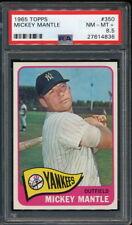 MICKEY MANTLE 1965 TOPPS YANKEES CARD #350 PSA 8.5 *SHARP*