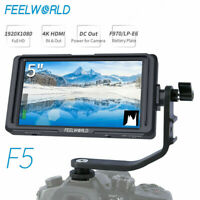 FEELWORLD F5 DSLR 5 inch On Camera Field Video 4K HDMI Monitor Full HD 1920x1080