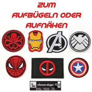 Avengers Aufnäher Aufbügler Badges Patches Ironman Shield Deadpool Hydra Spiderm