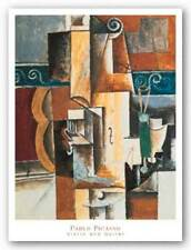 Violin and Guitar Pablo Picasso Abstract Art Print Poster 22x28