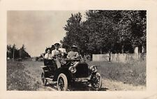 RPPC Even Hillbillies Can Use A Chauffeur When Riding in A Little Motor Car~1914