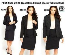 Wool Business Plus Size Suits & Tailoring for Women