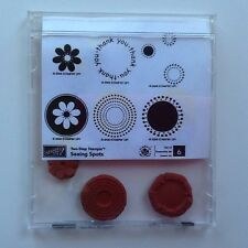 "Stampin' Up! Retired """"  Seeing Spots """"  Clear Mount Stamp Set"