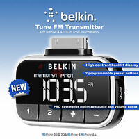 NEW Belkin Tune FM Transmitter For iPhone 4 4S 3GS iPod Touch Nano F8Z179eaSTD