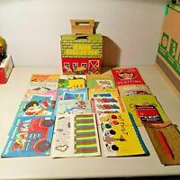 Samuel Lowe Co Lot Of 17 Vintage Coloring Books 1940s/1950s Unused Crayons Paint