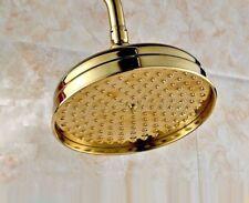25,4 cm de oro cepillado sistema de ducha de lluvia Bilu-Manguera de ba/ño de lat/ón de lujo conjunto de mezclador con cabezal de ducha de mano montaje en pared