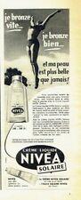 Publicité Advertising 097  1957  Nivéa liquide creme solaire