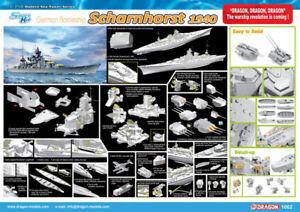 Dragon Plastic Model Kits #1062 1/350 German Battleship Scharnhorst, 1940