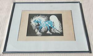 Woodrow Wilson Woody Crumbo 1912-1989 original signed Spirit Horse silkscreen