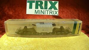 Minitrix 13298 Tiefladewagen 6-achsig DB Trafo Transformator 💥 OVP [1161]