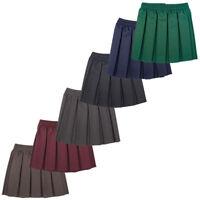 Girls/Ladies/Women Skirt School Office Uniform Box Pleated Elasticated waist