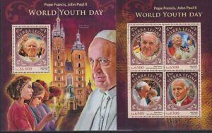 H902. Sierra Leone - MNH - Famous People - Pope Francis, Pope John Paul II