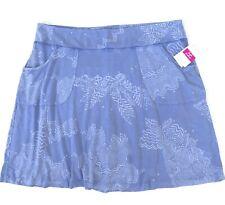 FRESH PRODUCE 1X Peri BLUE White Tides $75 Stretch Knit CITY Skort Skirt NWT New