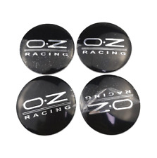 4x56mm Oz Racing Wheel Center Stickers For Opel Mitsubishi Chevrolet Black