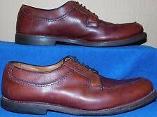 Allen Edmonds mens 11 B Stockbridge brown split-toe blucher oxford shoes
