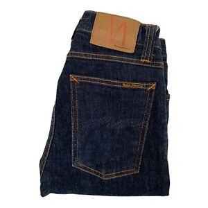 Nudie High Kai Rinsed Dark Wash Jeans Mid Rise W26 L32