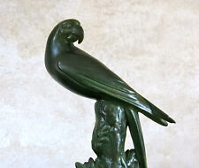PERROQUET signé LUC, très beau perroquet en céramique, MARCEL GUILLOT .