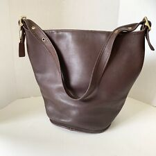 Vintage Coach XL Duffel Sac Feed Bag Dark Brown 9085  USA Excellent