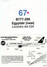 Decal - B777-200 - Egyptair (new) - LivUnlim A4-124 - (Ref. DC67)