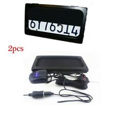 US Car License Plate Frame w/Remote Hide-Away Shutter Cover Up Electric Stealth