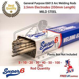 E6013 Arc Welding Electrodes Rods 2.5mm 5-100 Rods General Purpose - Super6