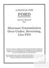 Ford 9N 2N 8N Tractor Sherman Transmission Service Shop Manual